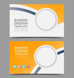 multipurpose layout banner design vector image