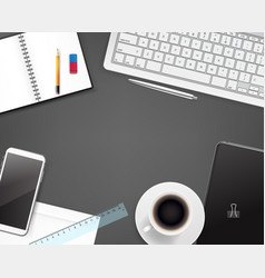 Office stationery different business stuff vector