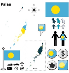Palau map vector