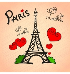 Paris Love romance vector