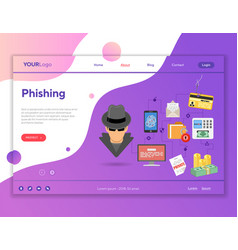 phishing cyber crime concept vector image