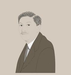 portrait abraham maslow vector image