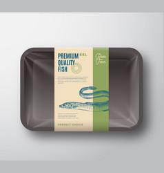 Premium quality fish abstract plastic vector