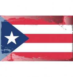 Puerto rico national flag vector image