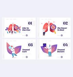 pulmonology diseases fibrosis tuberculosis vector image
