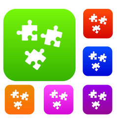 Puzzle set collection vector