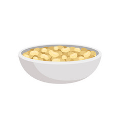 raw soybeans in a bowl healthy diet food vegan vector image