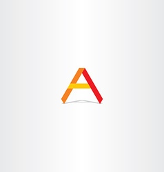 Red yellow orange letter a logo icon vector