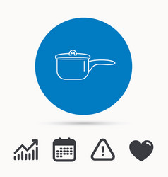 saucepan icon cooking pot or pan sign vector image vector image