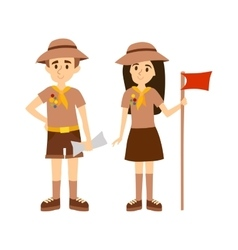 Scout people vector