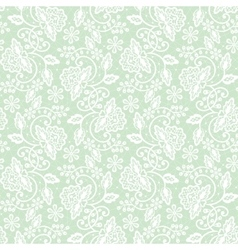 Seamless green lace vector image vector image