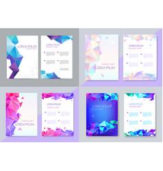 Set of brochure design templates cover vector