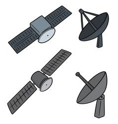 set satellite vector image