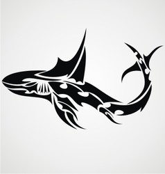 Shark Tattoo Design Vector