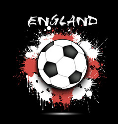 Soccer ball and england flag vector
