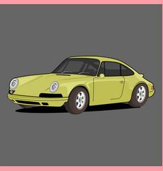 Sport car porsche vector