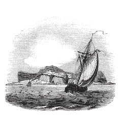 Staffa and Bute engraving vector image