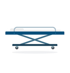 stretcher on wheels flat material design isolated vector image