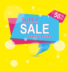super sale for clearance at 50 off it s a hot deal vector image