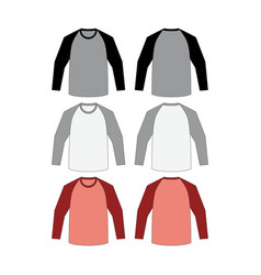 T-shirt long raglan vector