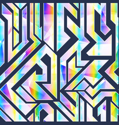 Vibrant geometric seamless pattern vector