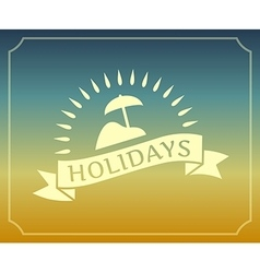 Vintage summer holidays logo with frame vector image