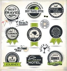 Vintage summer labels vector image