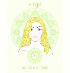 Virgo zodiac sign vector