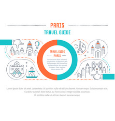 Website banner and landing page paris travel guide vector