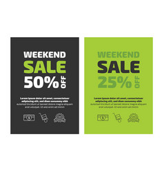 Weekend sale flayer template vector