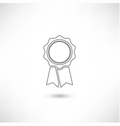 badge outline vector image vector image