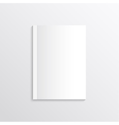 Blank sheet of paper magazine covers postcards vector image