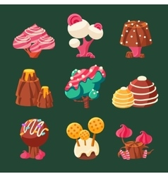 Cartoon Sweet Candy Land vector image