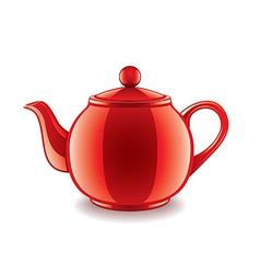 classic kettle isolated vector image vector image