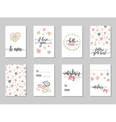 Collection of Valentines Day cute ready-to-use vector image vector image