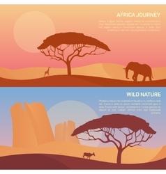 landscape in savanna vector image vector image