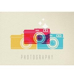 Photography camera icon concept color design vector image vector image