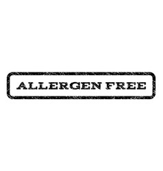 allergen free watermark stamp vector image
