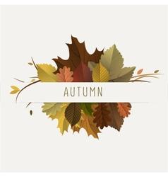 Autumn decoration vector image