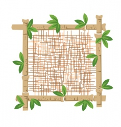 bamboo and fabric vector image vector image