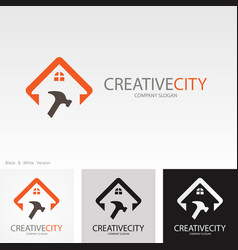 building repaire creative logo vector image vector image
