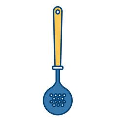 frying spoon kitchen utensil vector image