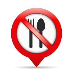 No Food Sign vector image vector image