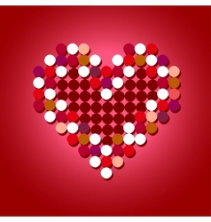 Red Halftone Heart vector image vector image