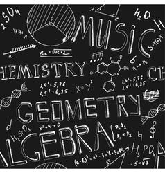 Scientific Board vector image