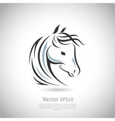 Sign horse logo vector