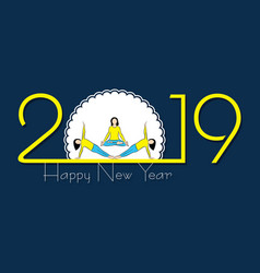 2019 happy new year with creative design for your vector