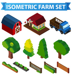 3d design for barn and trees vector image