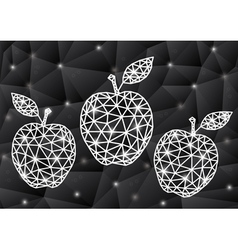 Abstract triangle apples with background vector