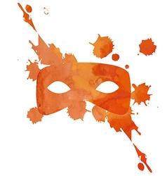 Aquarelle mask with splash vector
